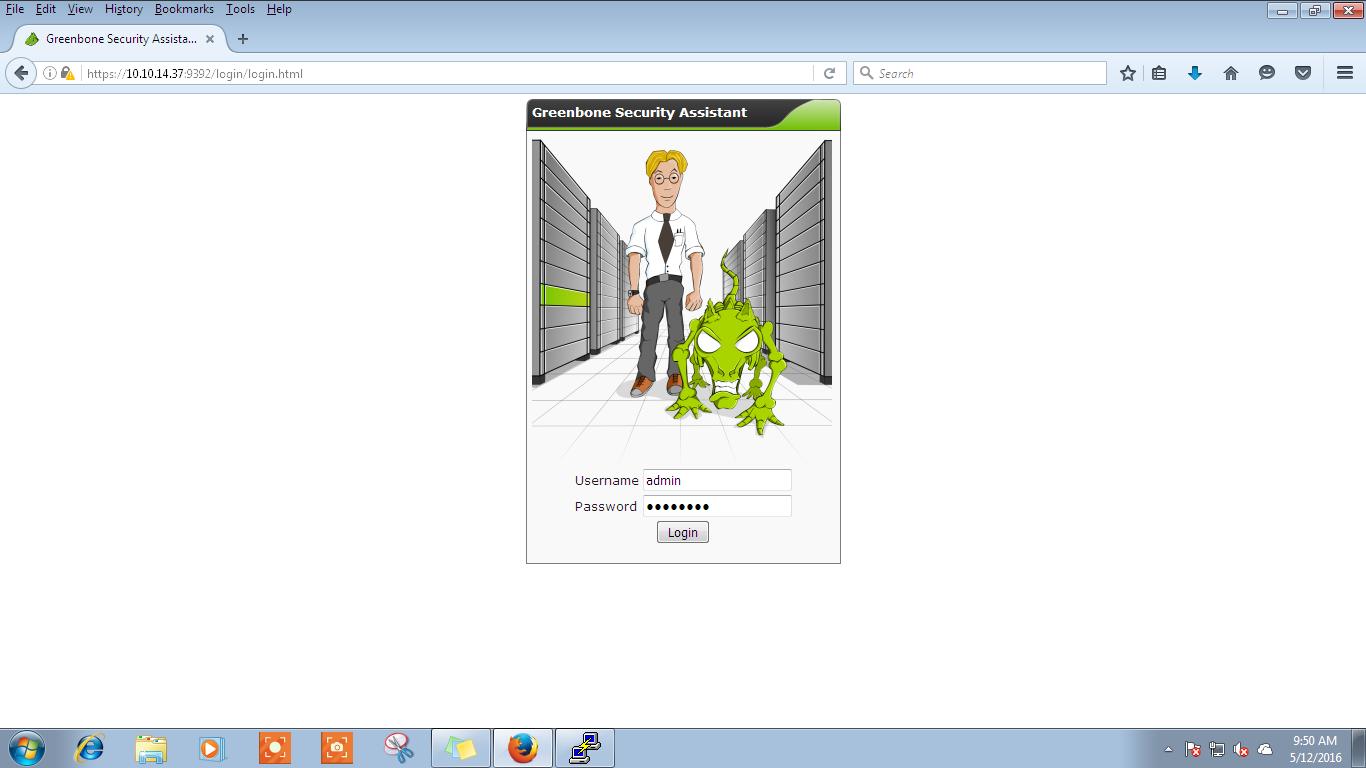 openvas webinterface