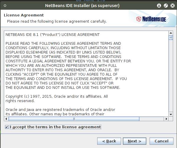 Netbeans license agreement