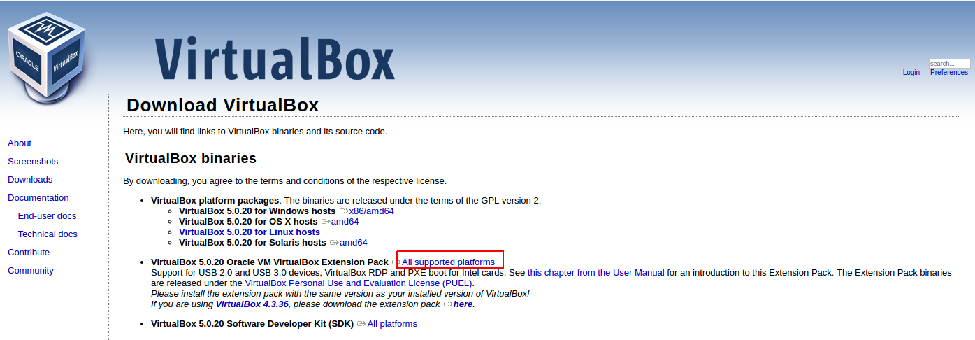 VBox Manage Extension