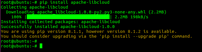 Apache Libcloud install