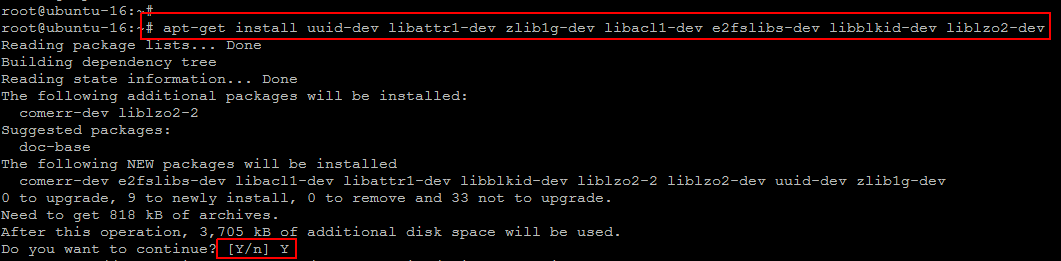 required btrfs libs