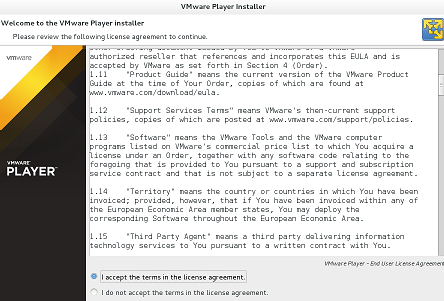 VMWare Player Lincese