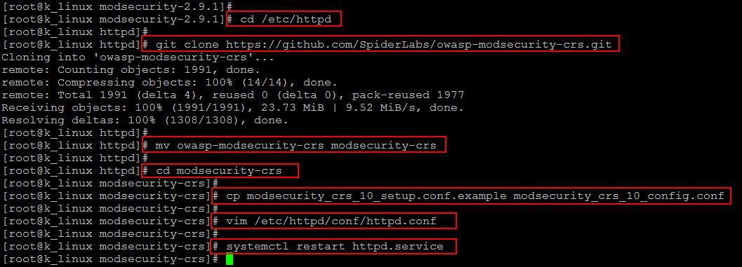 OWASP setup