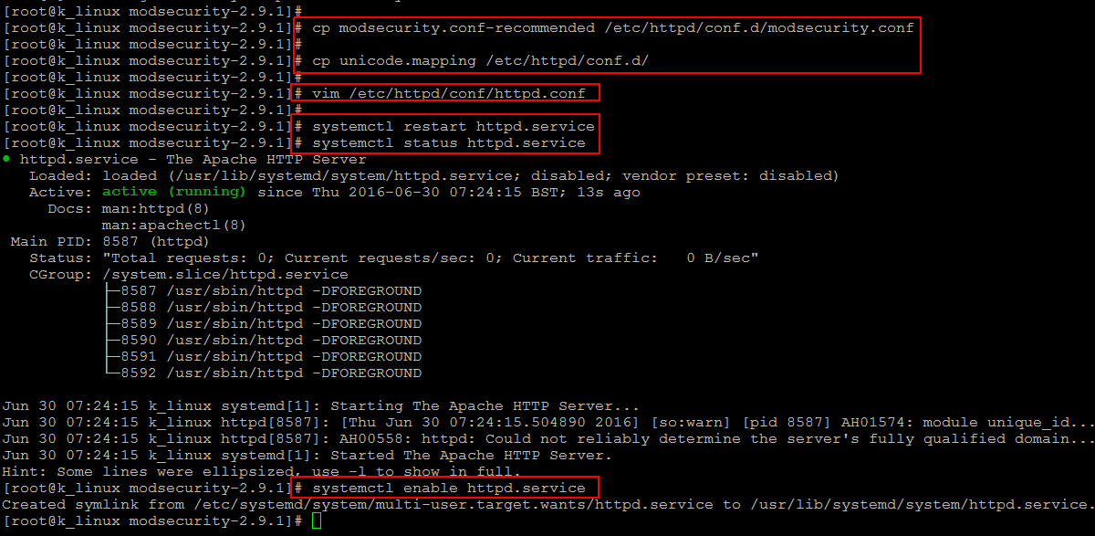 mod_security configurations