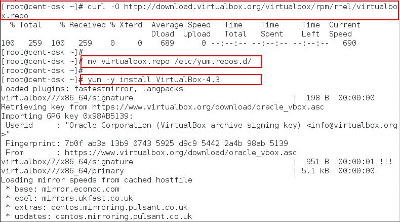 installing virtulbox