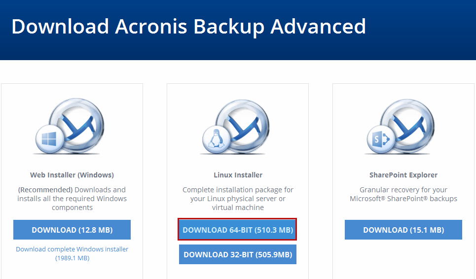 Acronis Download