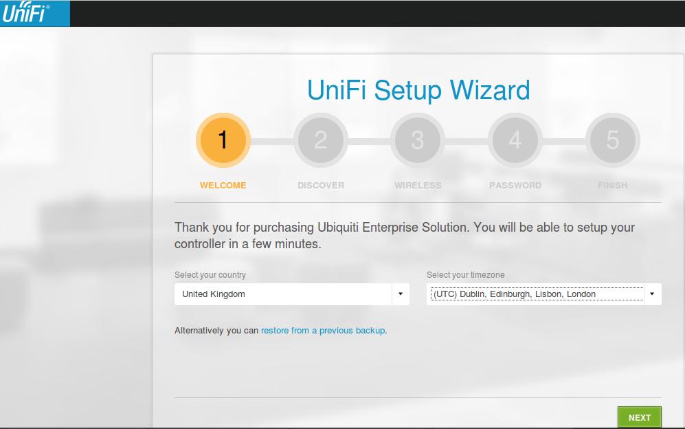 unify setup wizard