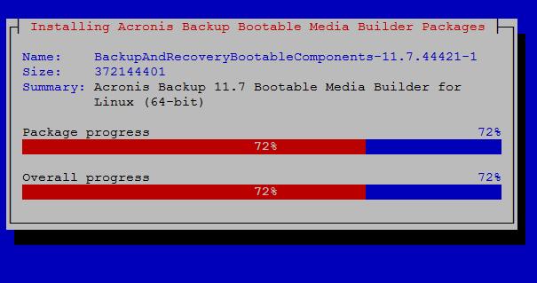 acronis media progress