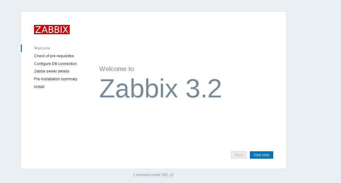 Zabbix monitoring server Frontend Setup