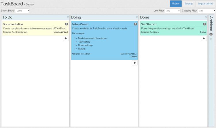 TaskBoard: Kanban-based Software on CentOS 7