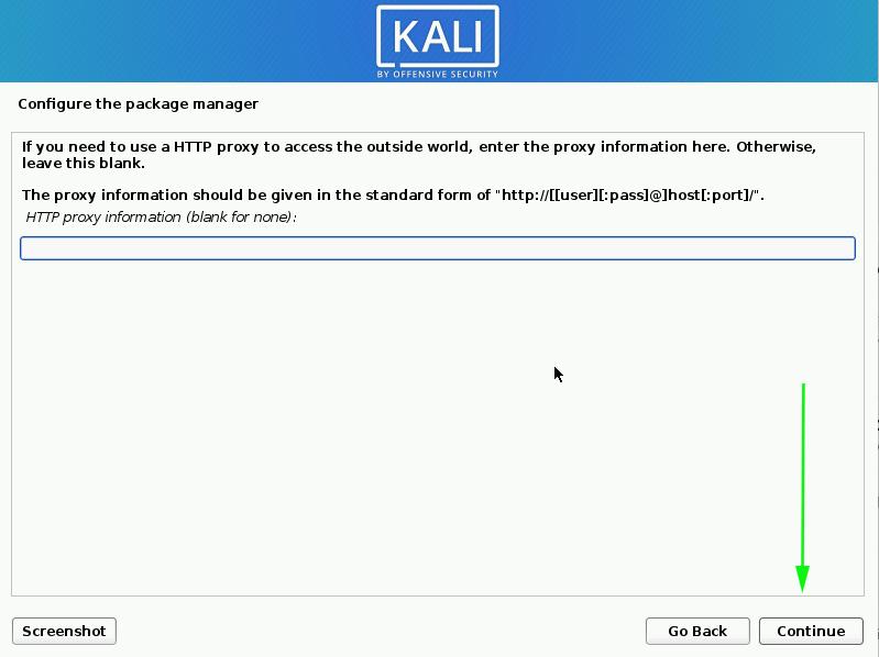 configure http proxy