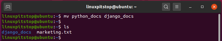rename a directory in Linux