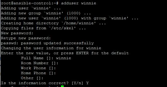 create a user on Ubuntu 20