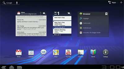 Android 3.0, the version for Android Tablets, to debut!