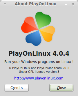 About PlayOnLinux 074