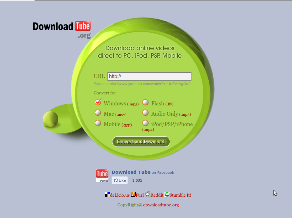 Downloadtube- An online tool to download/ convert online videos and save them to your PC, iPOD, PS and mobile phone