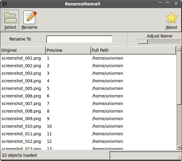 Renamethemall- A simple and easy tool for batch file renaming