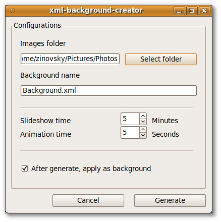 Create animated wallpaper with XML slideshow creator