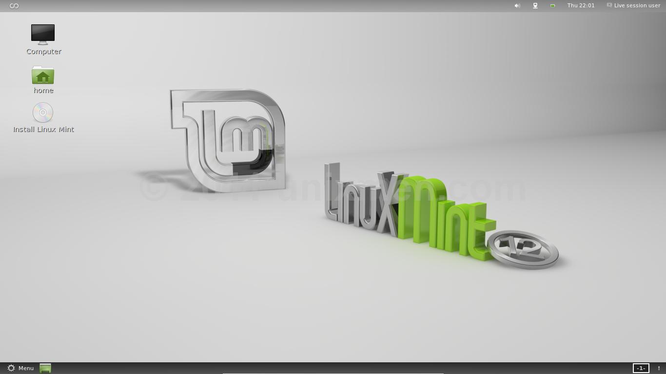 LinuxMint 12 Lisa first Look | Screenshots Tour