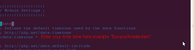 "How to set ""date.timezone"" option in php.ini"